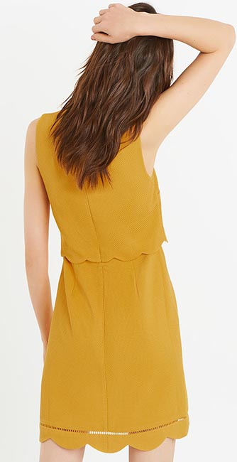 Rear view of this Scallop double layer dress from Oasis