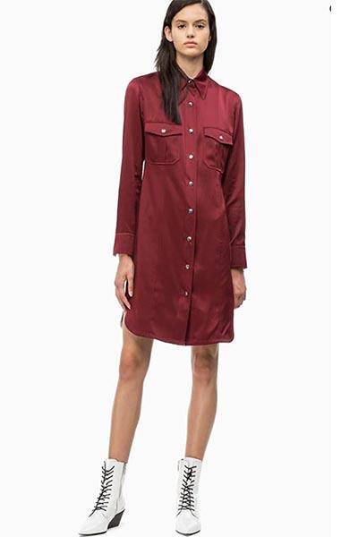 Satin Shirt Dress from Calvin Klein