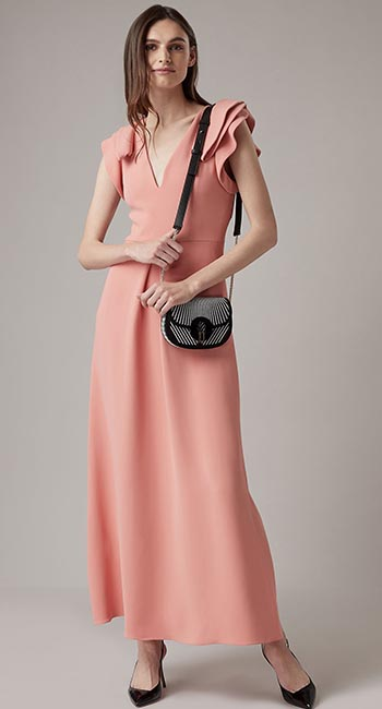 Antique Rose Crepe dress from Armani