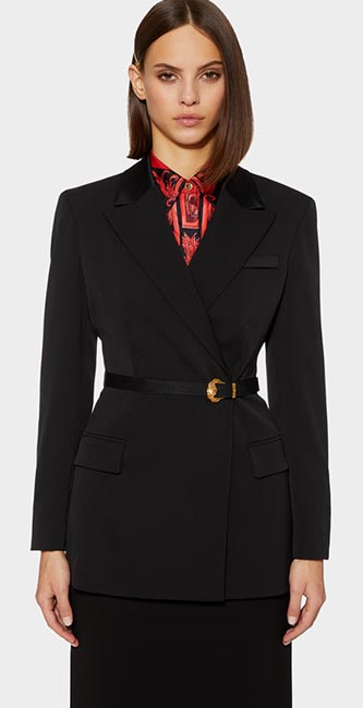 Barocco Buckle Wool Blazer from Versace