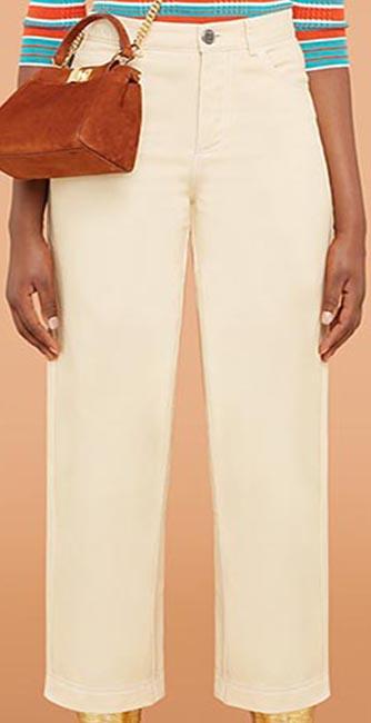 Beige trousers from Fendi