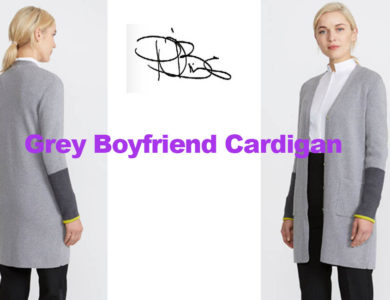 Boyfriend Cardigan from Irish designer Peter O'Brien