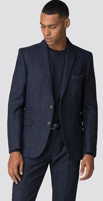 British Black & Blue Tweed Camden Jacket from Ben Sherman