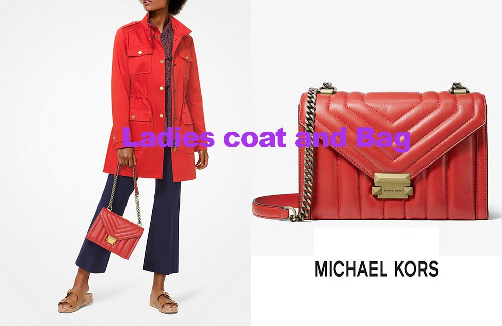 Cargo jacket and bag from Michael Kors