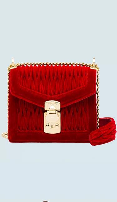 Confidential Matelasse Velvet Bag from Miu Miu