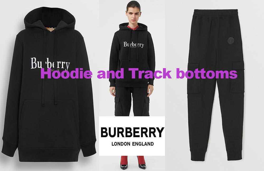 Embroidered hoodie and track pants from Burberry