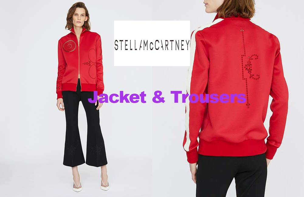 Embroidered jacket and trousers from Stella McCartney