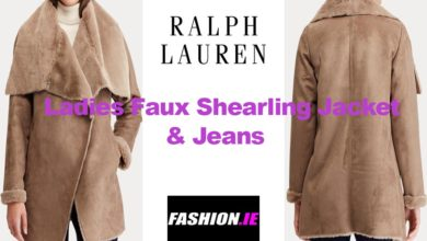 Faux Shearling Jacket and Jeans from Ralph Lauren