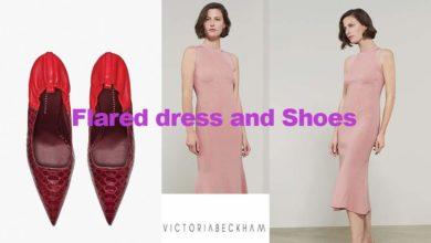Flared dress and Dorothy shoe from Victoria Beckham