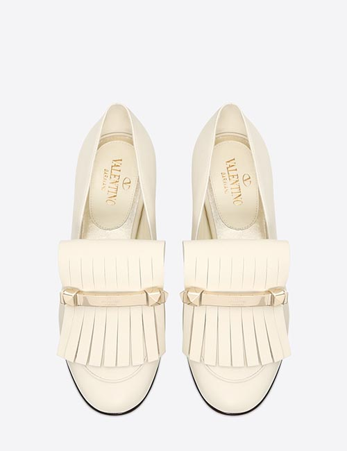 Fringe Flat Loafers from Valentino