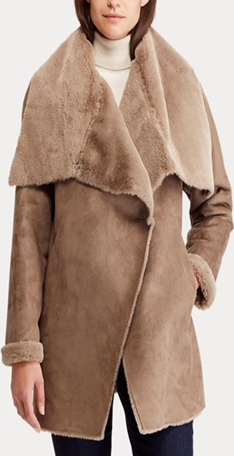 Front view of this Faux-Shearling Jacket from Ralph Lauren