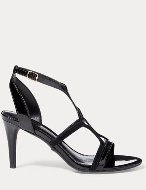 Gilah Suede-Patent Sandal from Ralph Lauren