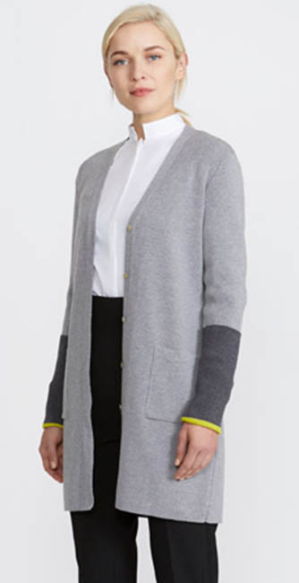 Grey Boyfriend Cardigan from Irish designer Peter O'Brien