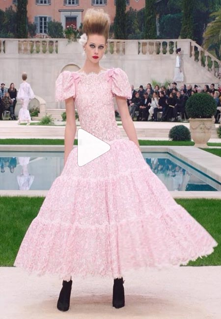 Kaia Gerber at Chanel haute couture show