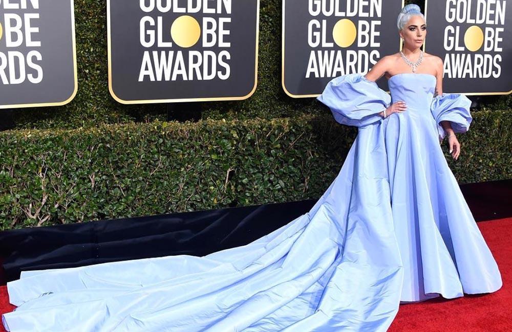 Lady Gaga wears Valentino dress to Golden Globes