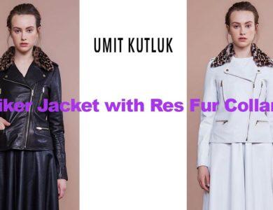 Leather biker jacket from Irish designer Umit Kutluk