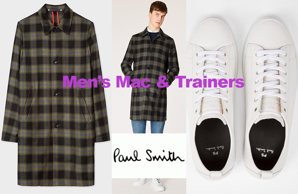 Men's Mac and trainers from Paul Smith