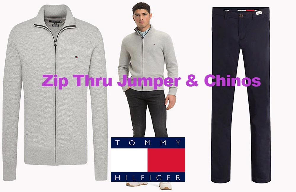 Zip jumper and chinos from Tommy Hilfiger