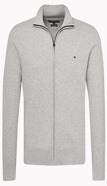 Pure Cotton Zip Thru Jumper from Tommy Hilfiger
