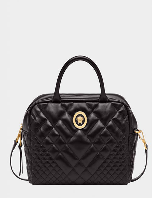 Quilted Satchel Bag from Versace