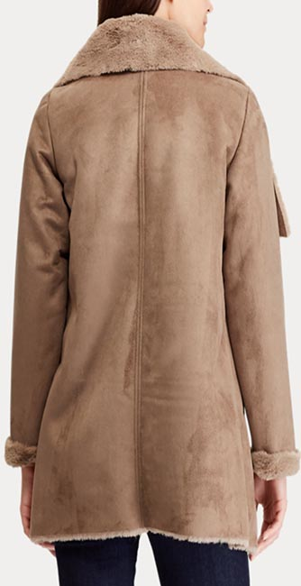 Rear view of this Faux-Shearling Jacket from Ralph Lauren