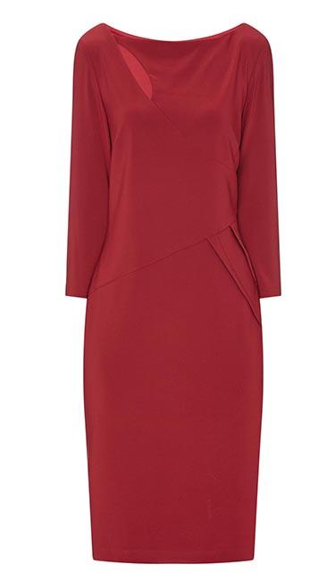 Red Eyelet dress from Joseph Ribkoff