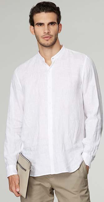 Regular-fit linen shirt from Giorgio Armani