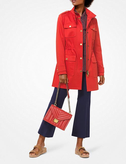 Sateen Cargo Jacket from Michael Kors