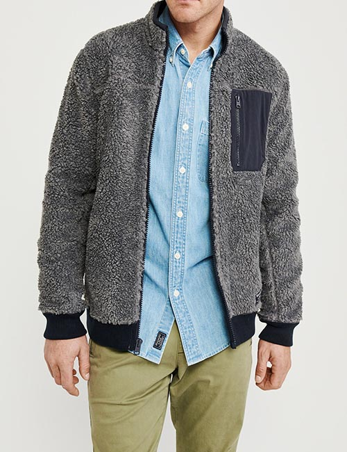 Sherpa Full Zip Jacket from Abercrombie & Fitch