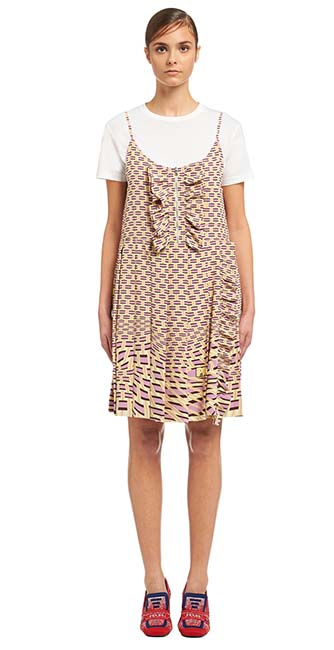 Silk Crepe de chine dress from Prada