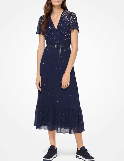 Studded Georgette Dress from Michael Kors