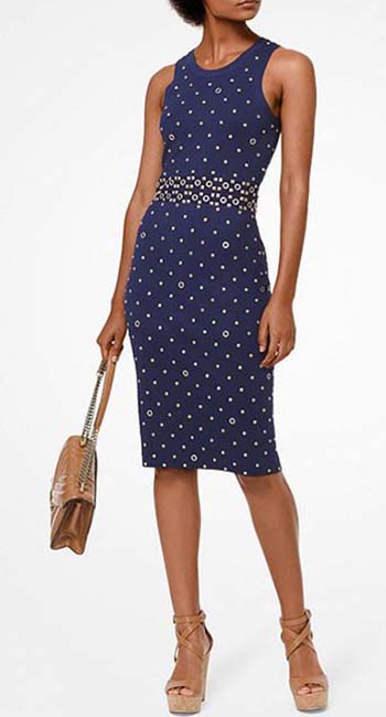 Studded Stretch-Viscose Dress from Michael Kors