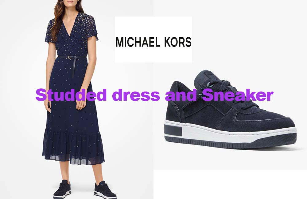 Studded dress and sneakers from Michael Kors