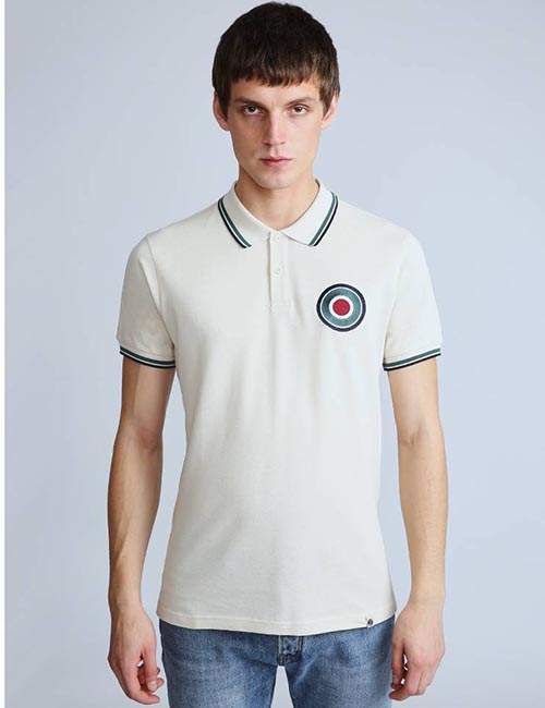 Target Chest Badge Polo Shirt from Pretty Green