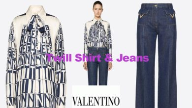 Tower twill shirt and jeans from Valentino