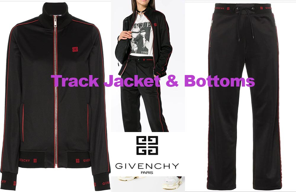 Track jacket and bottoms from Givenchy