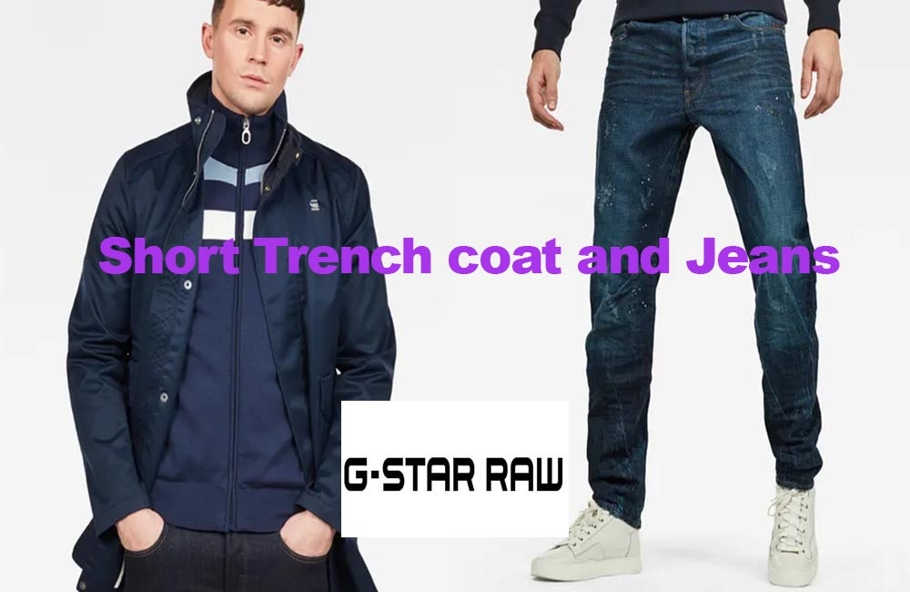 Trench coat and jeans from G-Star Raw