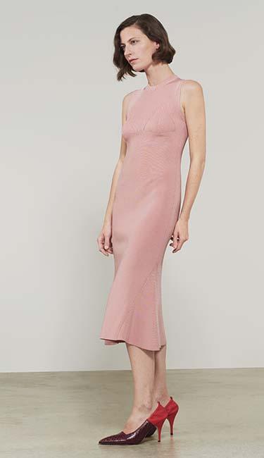 Trompe L'Oeil Flared Dress from Victoria Beckham