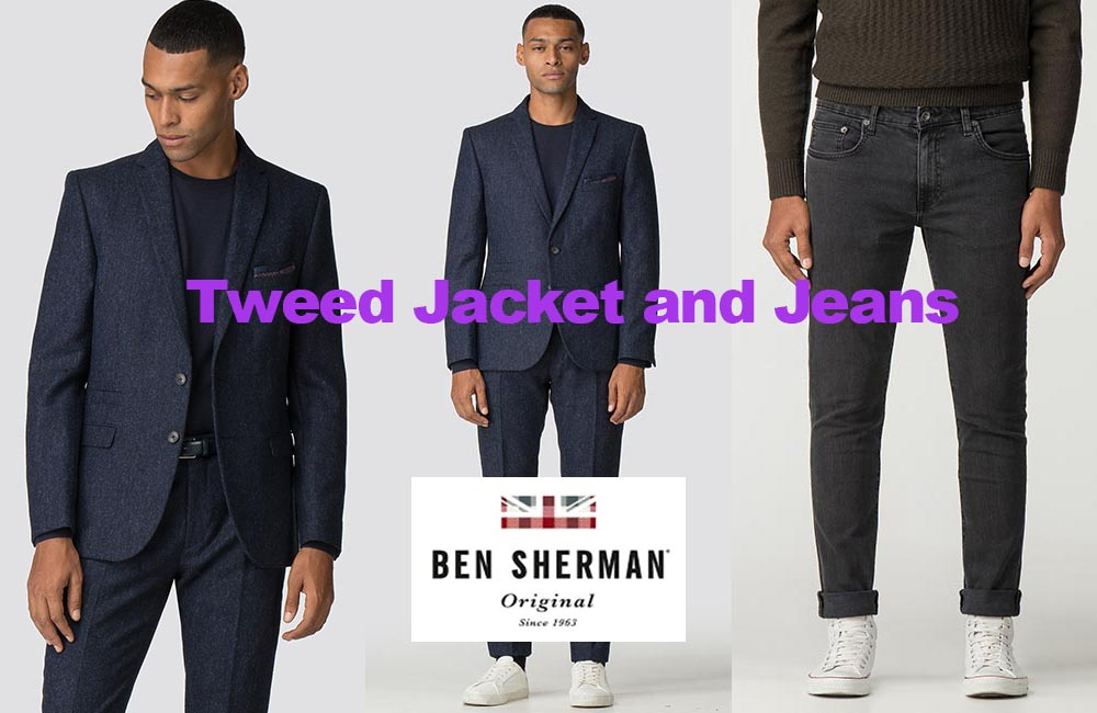 Tweed jacket and jeans from Ben Sherman review