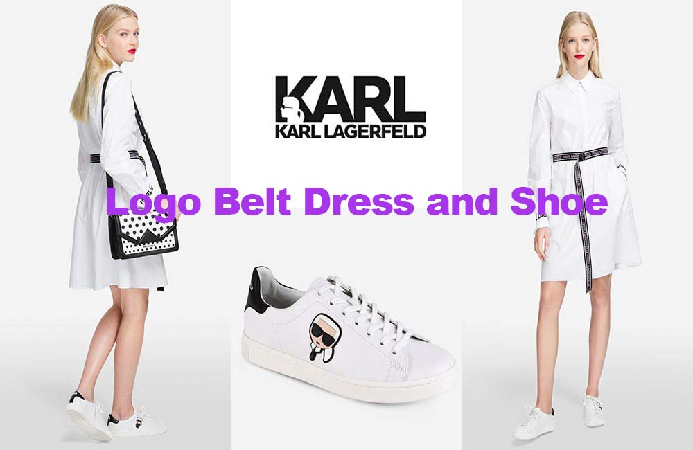 Fashion review logo dress and shoe from