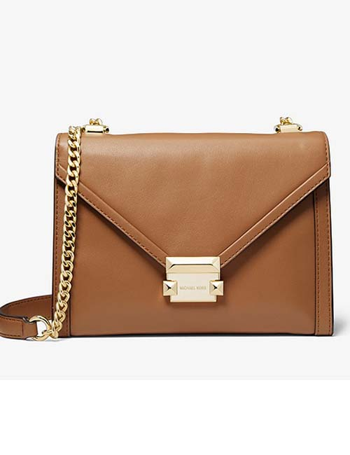 Whitney Large Leather Convertible Shoulder Bag from Michael Kors