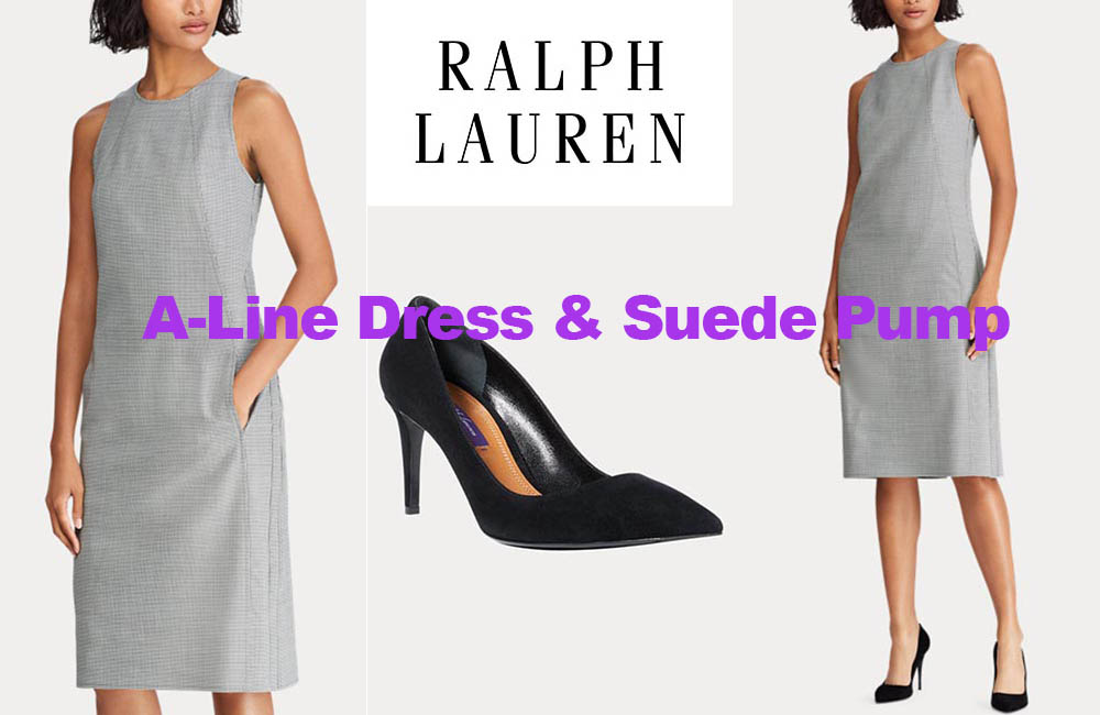 Fashion review wool dress and suede pump