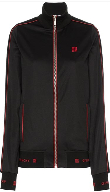 logo embroidered track jacket from Givenchy