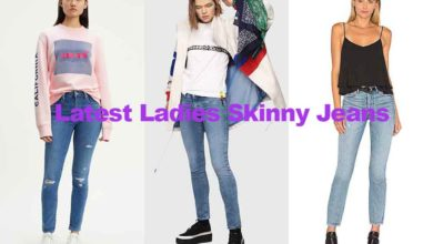 Fashion review latest ladies blue skinny jeans