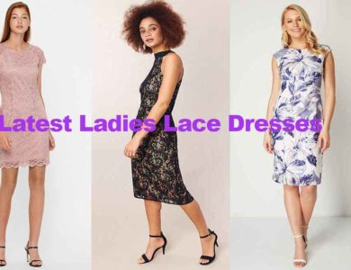 Fashion review latest ladies lace dresses