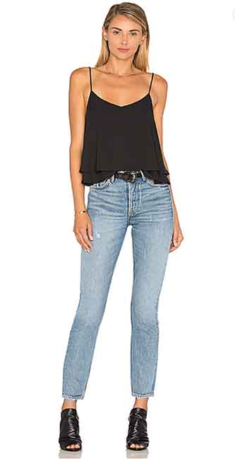 Ladies Karolina High-Rise Skinny Jean from Revolve