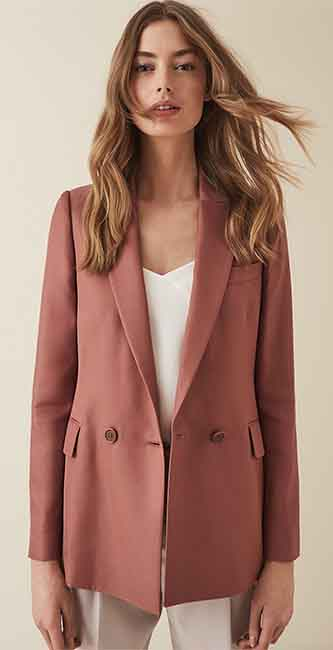 Ladies Satin Twill Tailored Blazer from Reiss