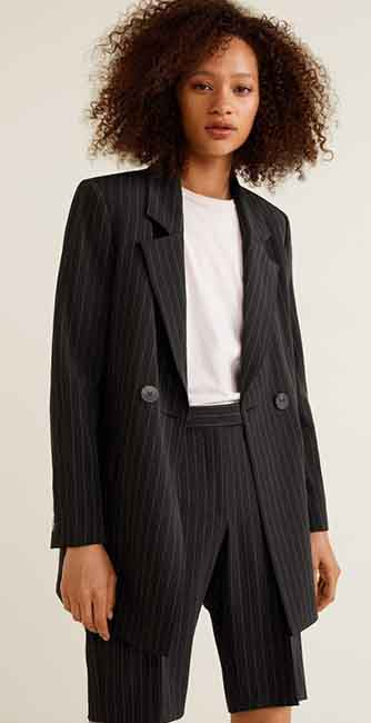 Ladies Striped Suit Blazer from Mango