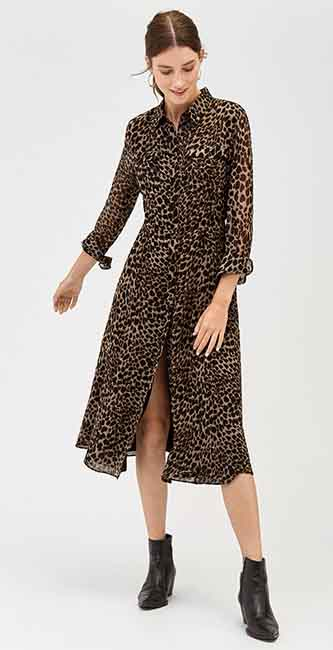 Leopard Print Midi Dress from Warehouse