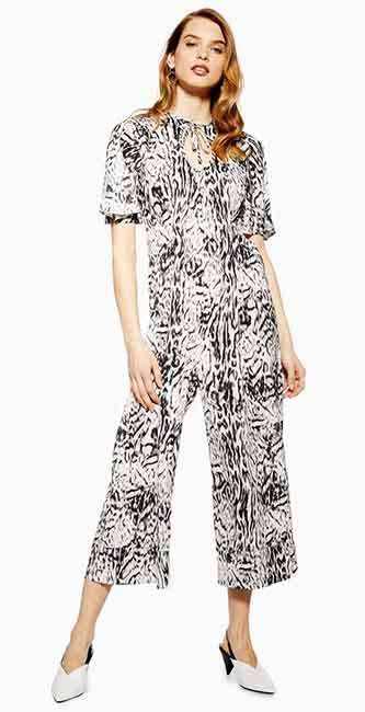 Snow Leopard Jumpsuit from Topshop